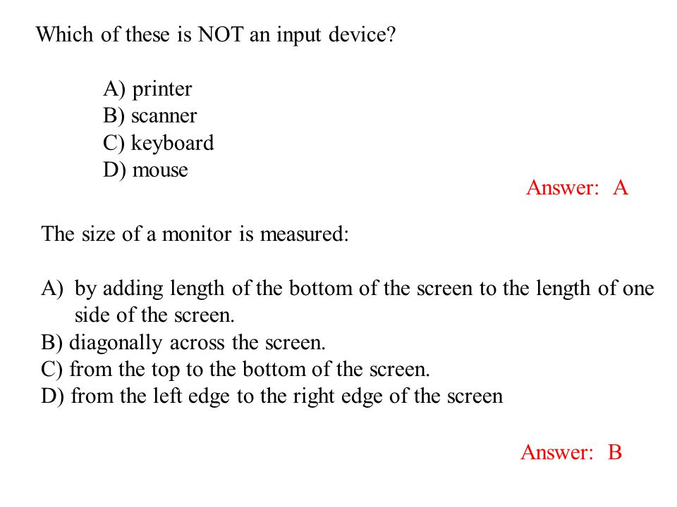Which of these is NOT an input device