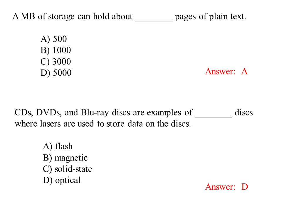 A MB of storage can hold about ________ pages of plain text.