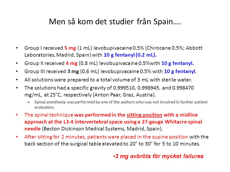 Men så kom det studier från Spain….