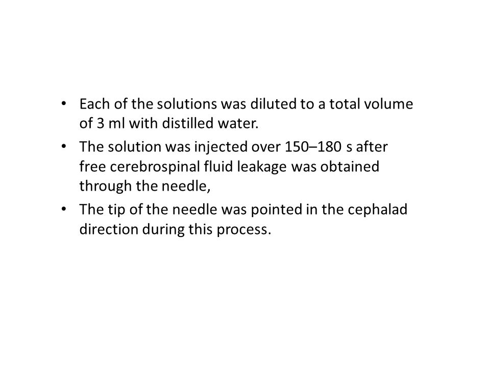 Each of the solutions was diluted to a total volume of 3 ml with distilled water.