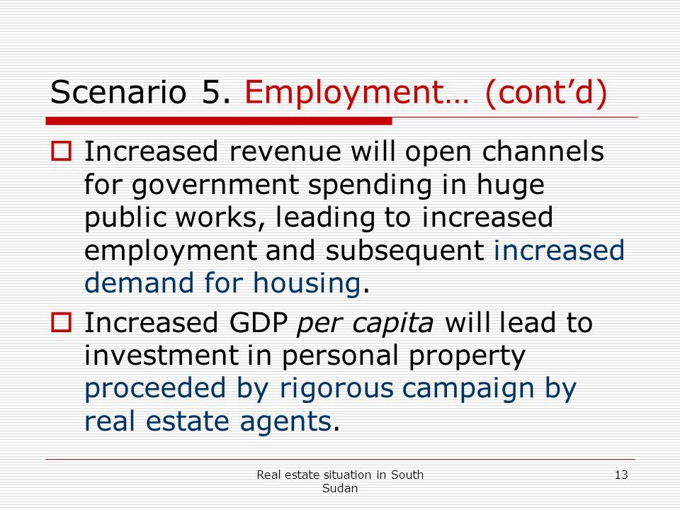 Scenario 5. Employment… (cont'd)