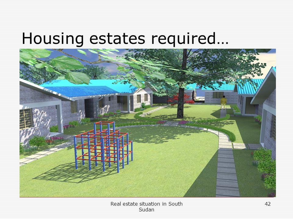 Housing estates required…