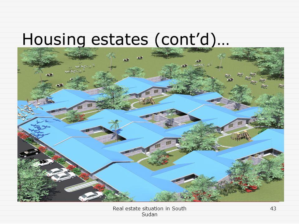 Housing estates (cont'd)…