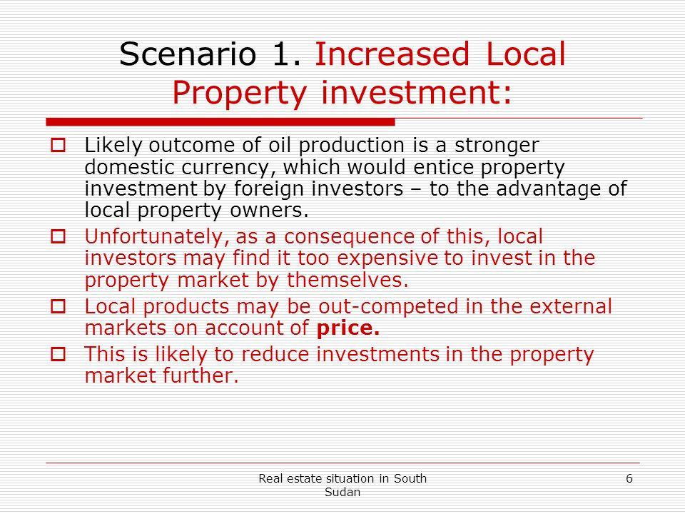 Scenario 1. Increased Local Property investment: