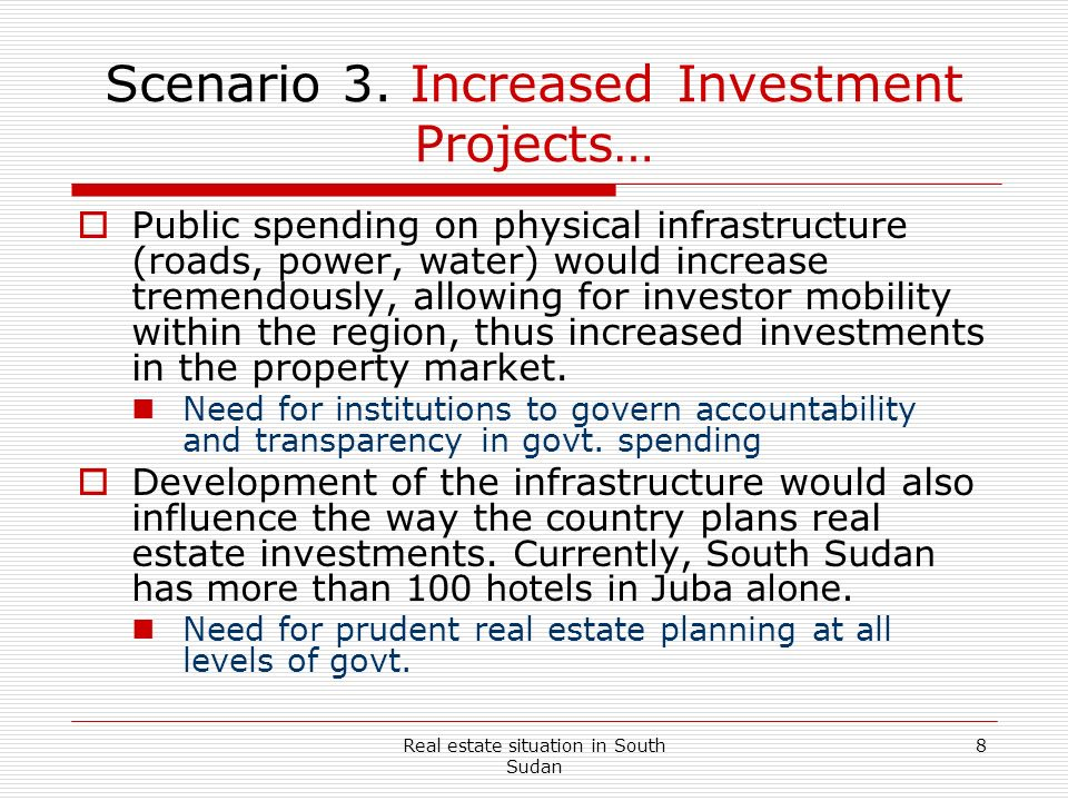Scenario 3. Increased Investment Projects…