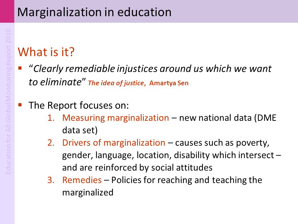 Marginalization in education