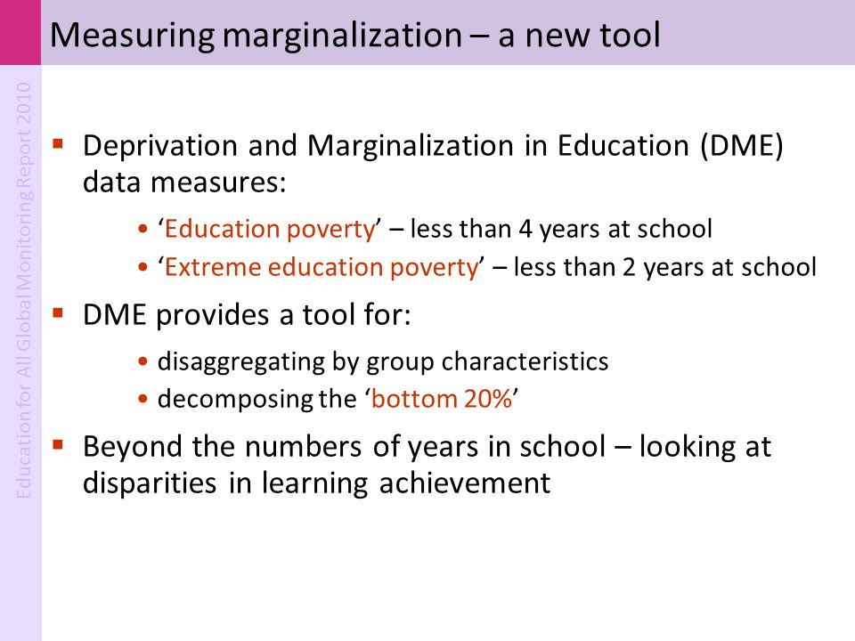 Measuring marginalization – a new tool