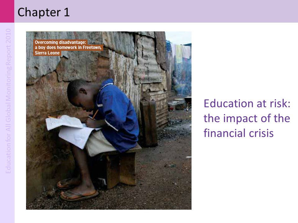 Chapter 1 Education at risk: the impact of the financial crisis