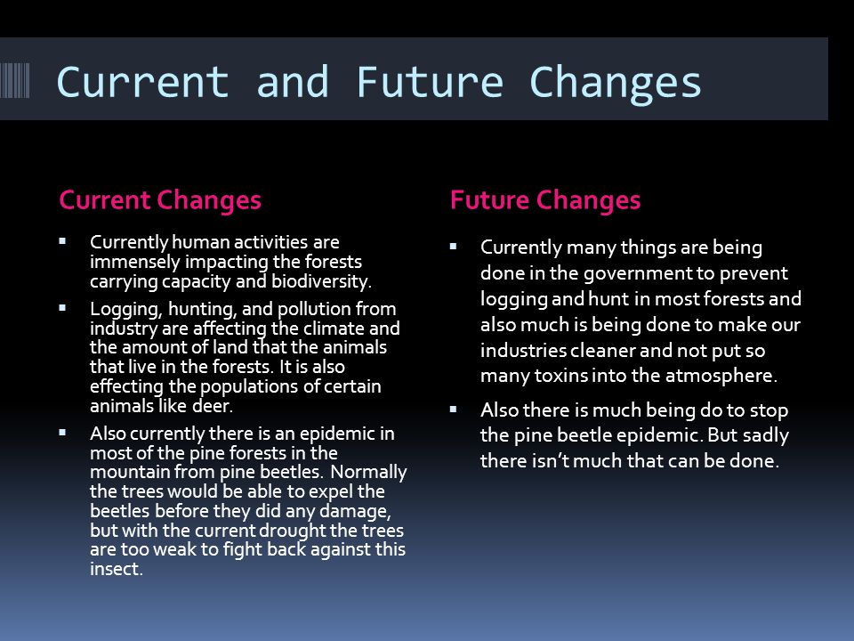 Current and Future Changes