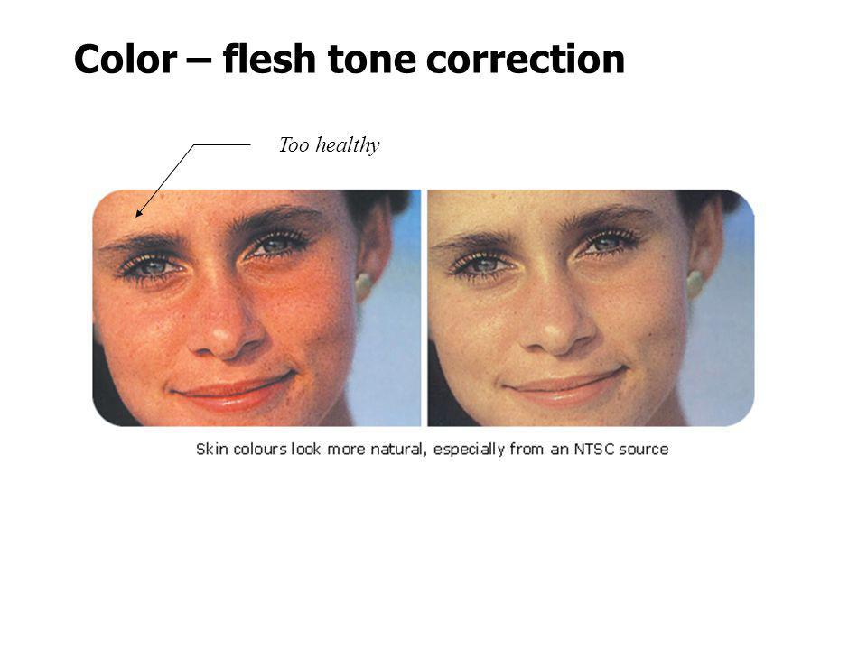 Color – flesh tone correction