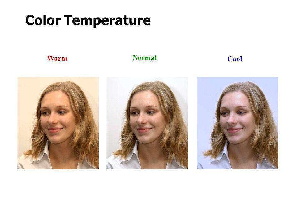 Color Temperature Warm Normal Cool