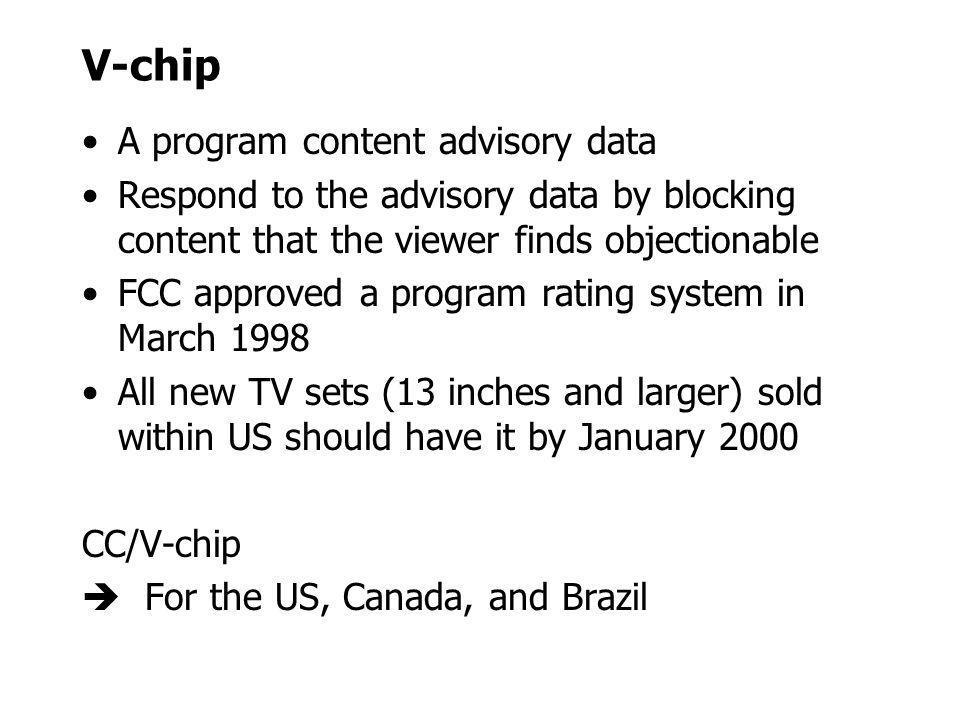 V-chip A program content advisory data