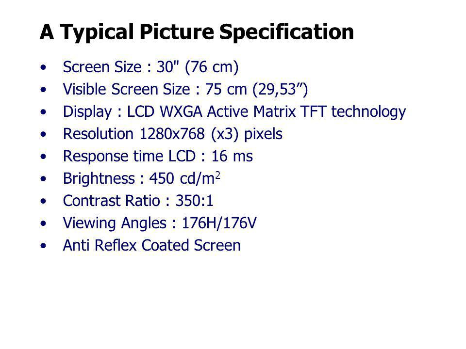 A Typical Picture Specification