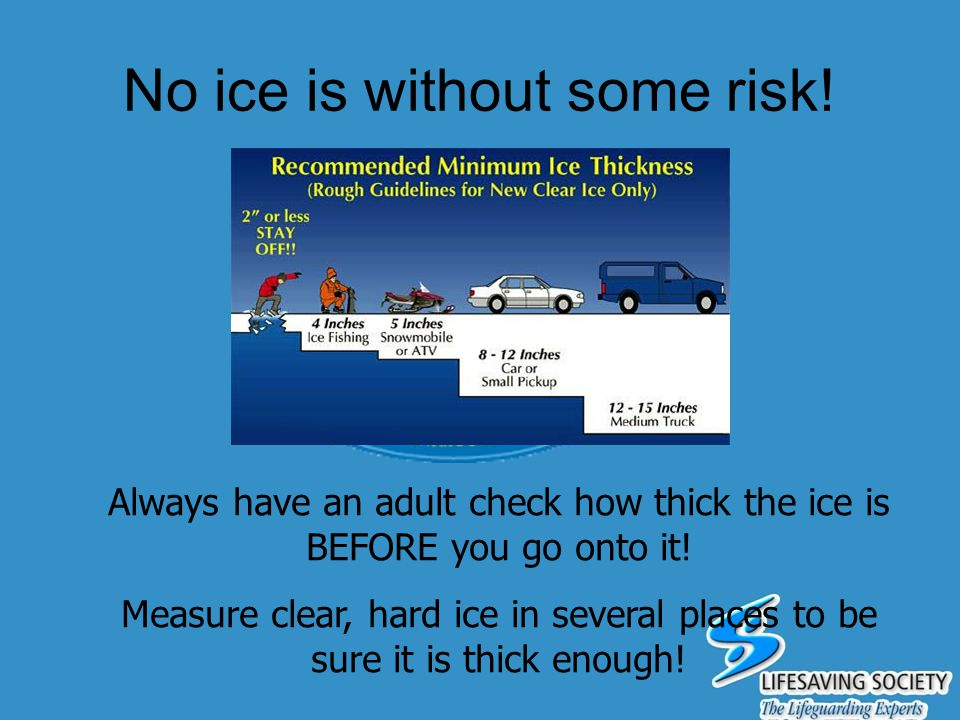 No ice is without some risk!