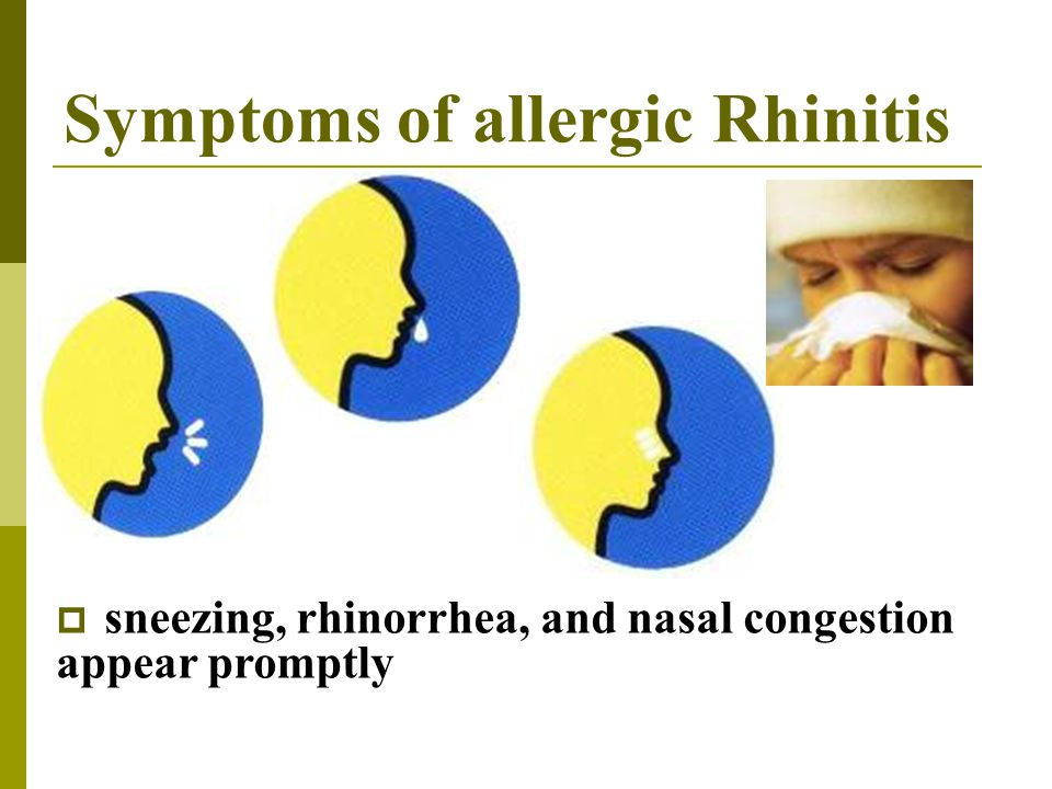 Symptoms of allergic Rhinitis