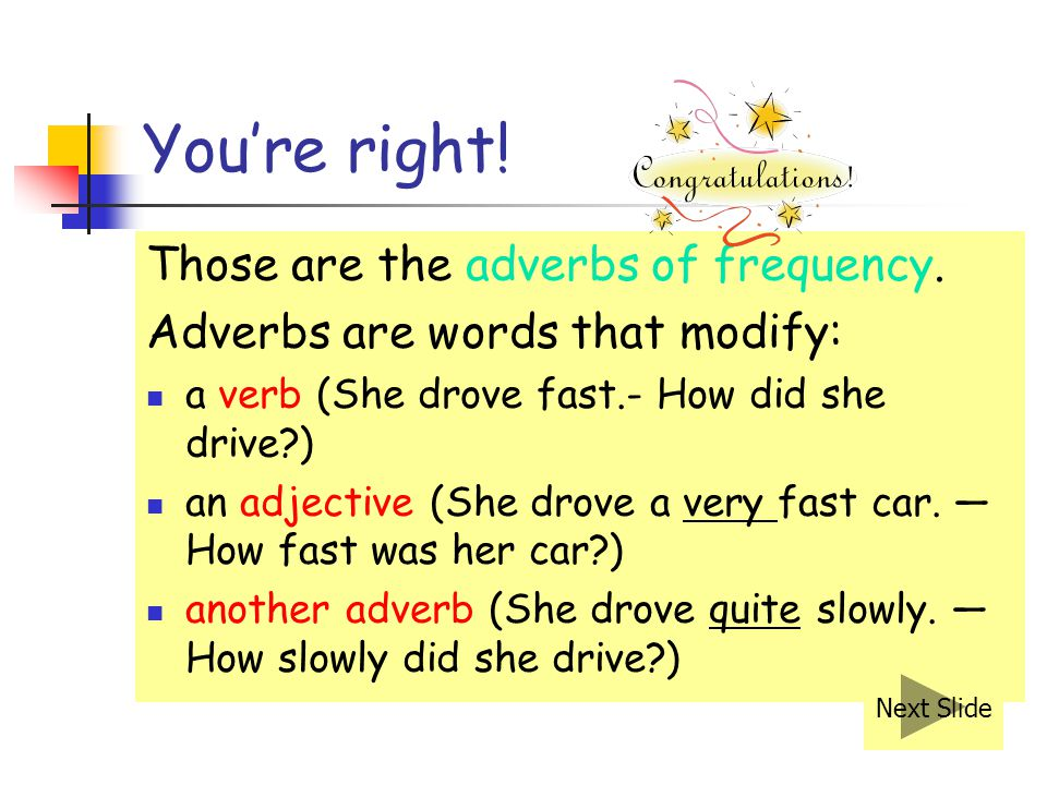 You're right! Those are the adverbs of frequency.