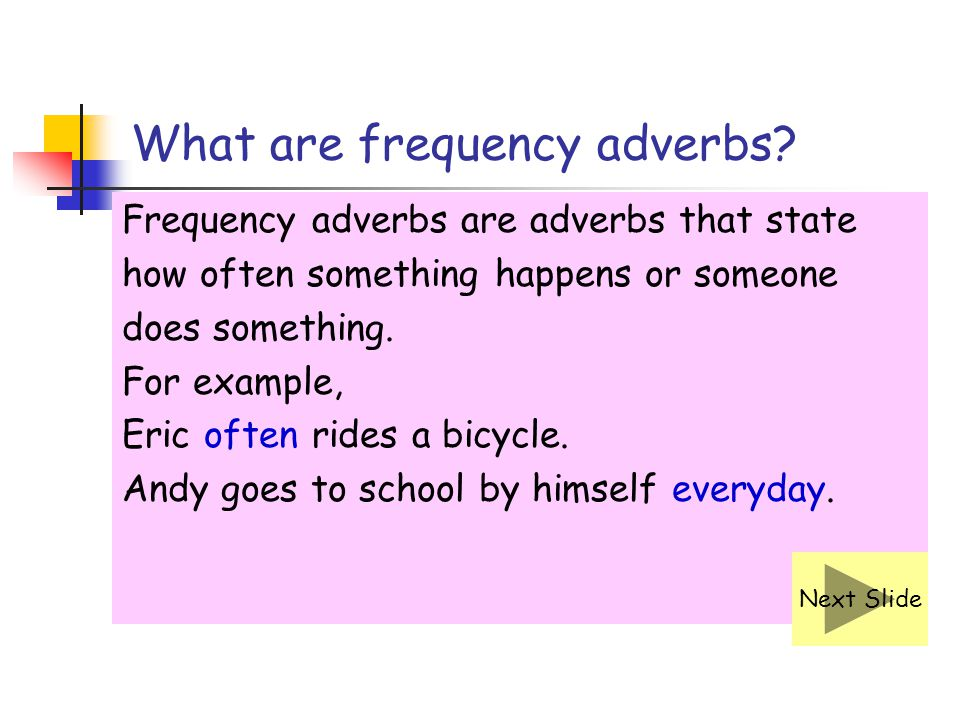 What are frequency adverbs