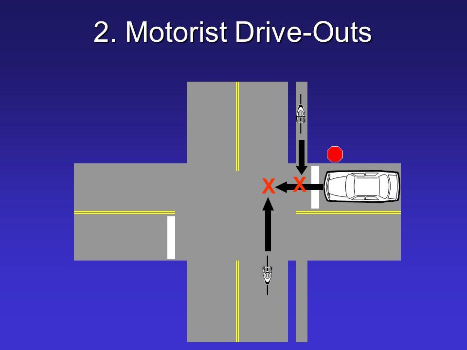 2. Motorist Drive-Outs X X