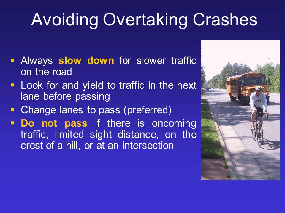 Avoiding Overtaking Crashes