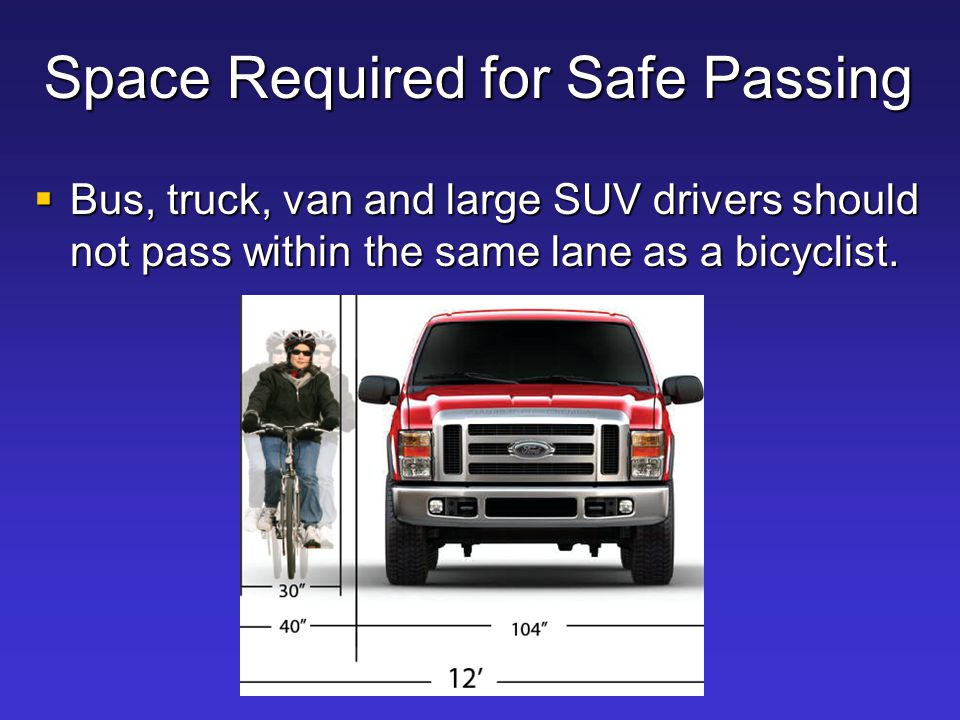 Space Required for Safe Passing
