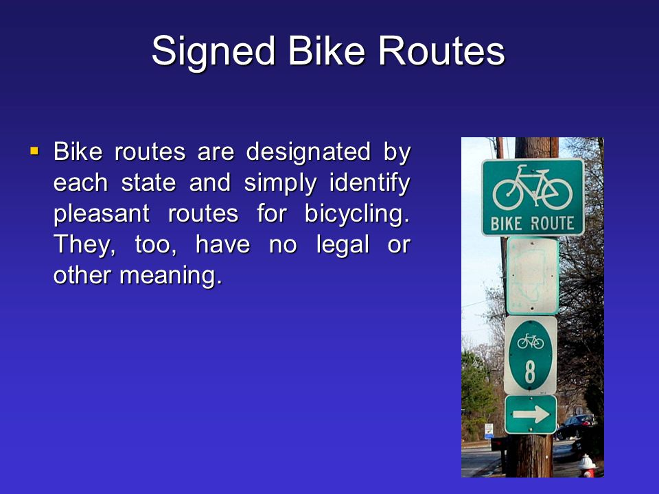 Signed Bike Routes