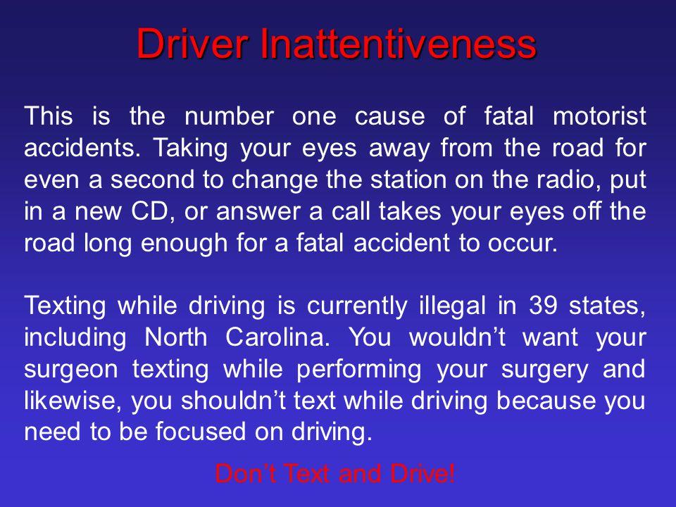 Driver Inattentiveness