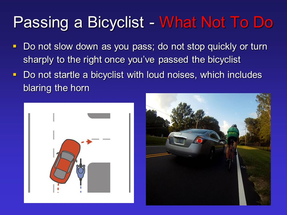 Passing a Bicyclist - What Not To Do