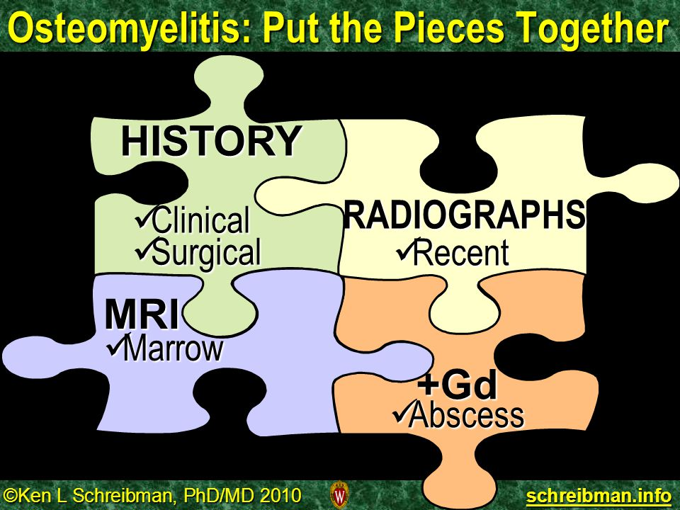 Osteomyelitis: Put the Pieces Together