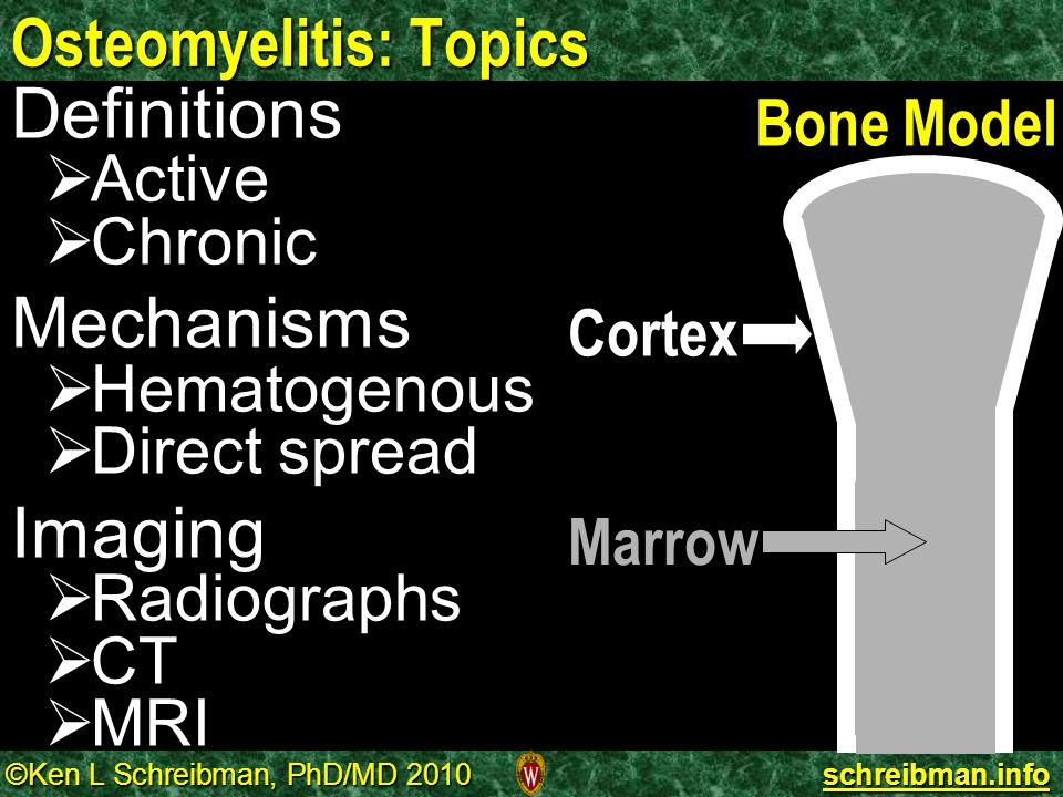 Osteomyelitis: Topics