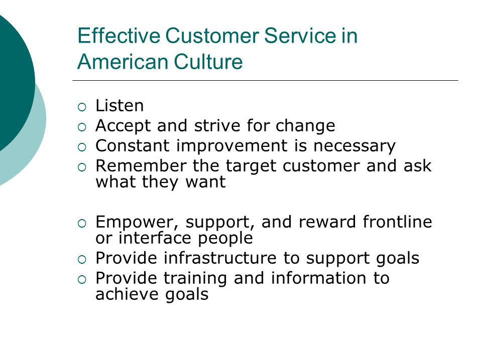 Effective Customer Service in American Culture