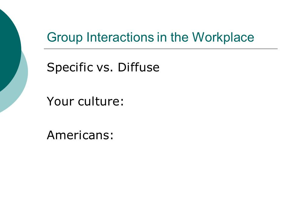 Group Interactions in the Workplace
