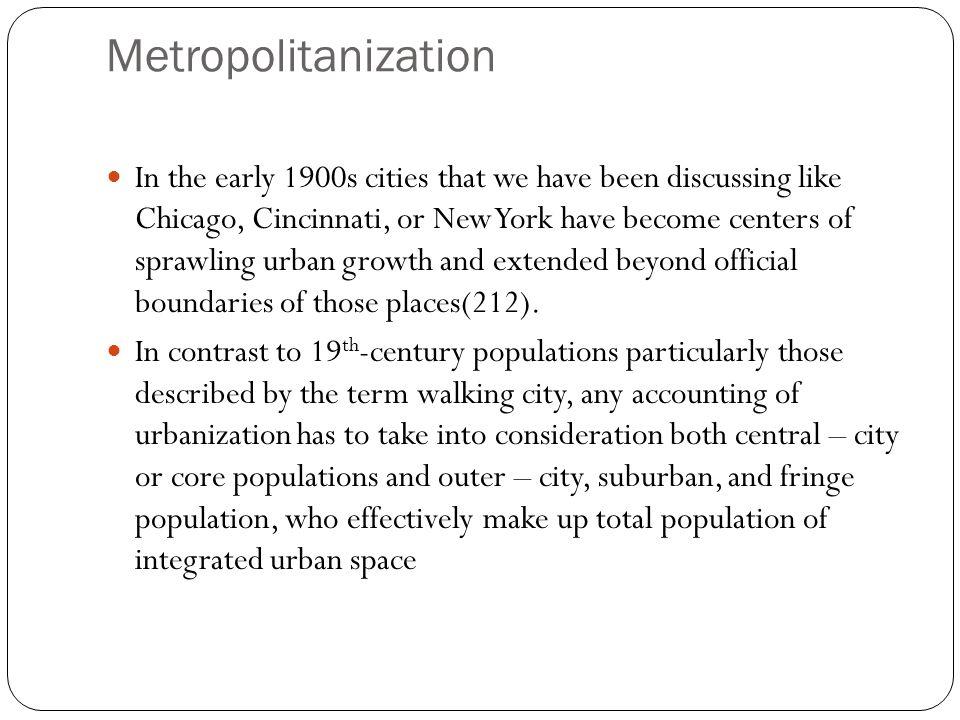 Metropolitanization
