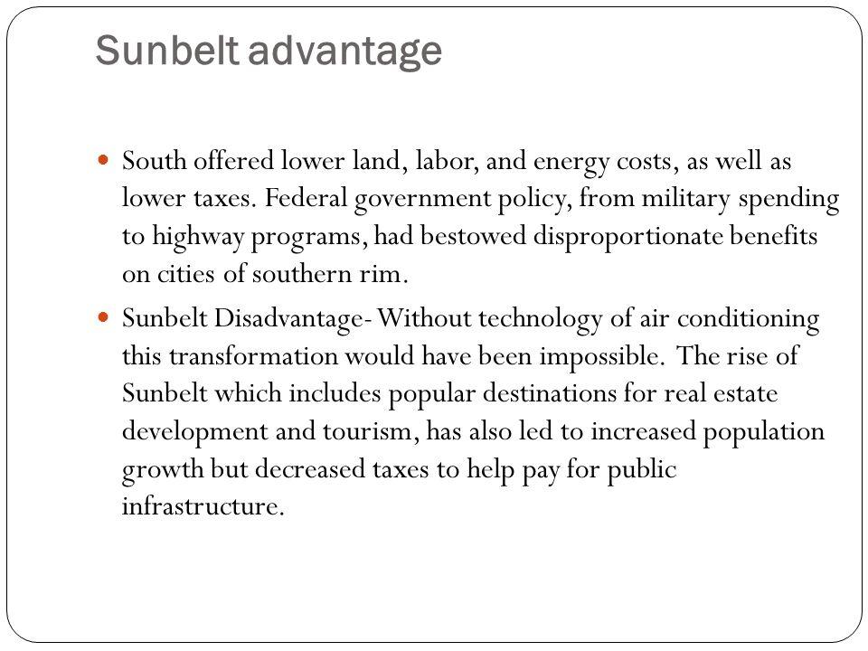 Sunbelt advantage