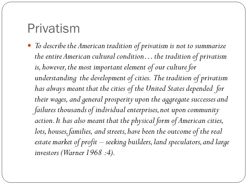Privatism