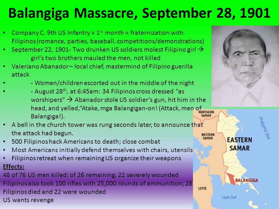 Balangiga Massacre, September 28, 1901