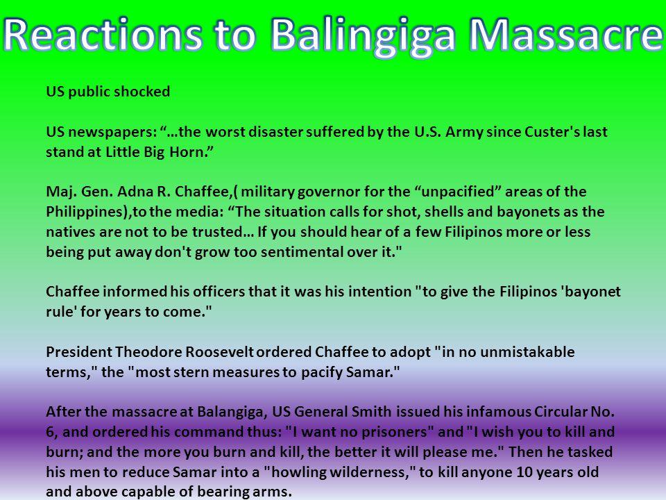Reactions to Balingiga Massacre