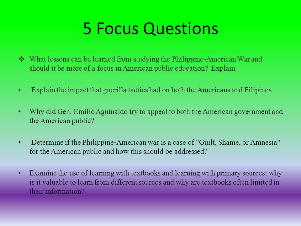 5 Focus Questions