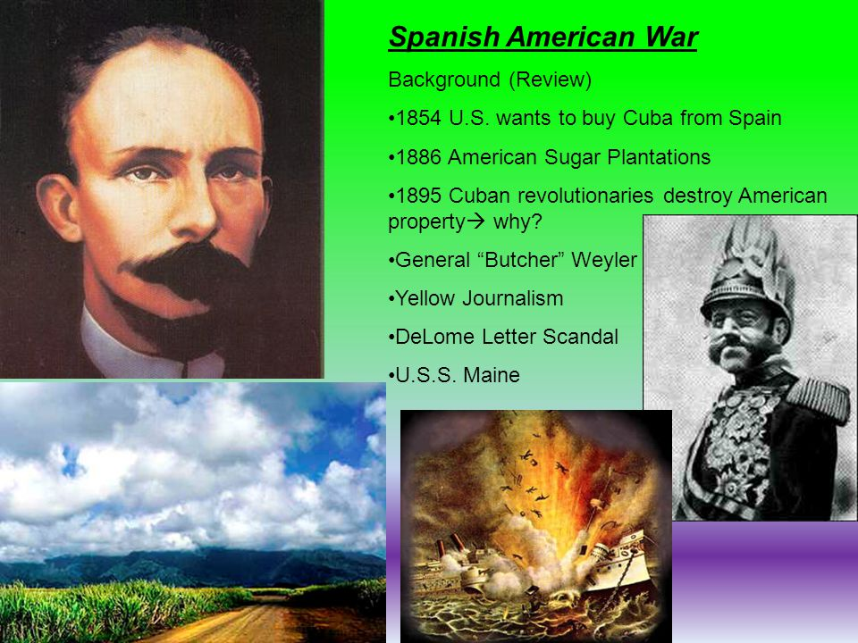 Spanish American War Background (Review)