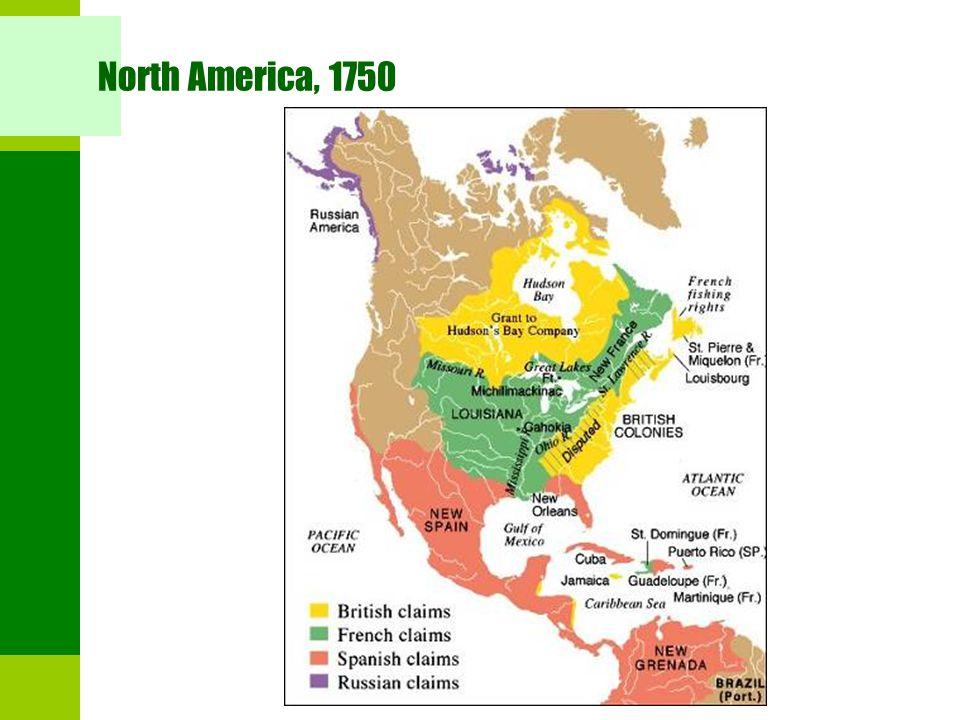 North America, 1750