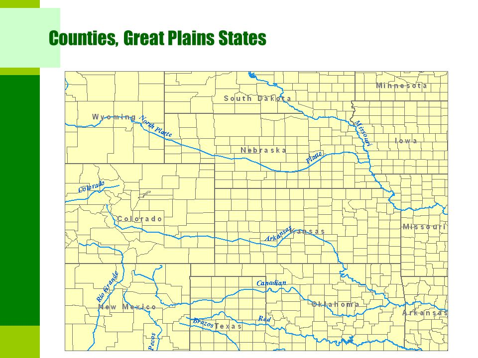 Counties, Great Plains States