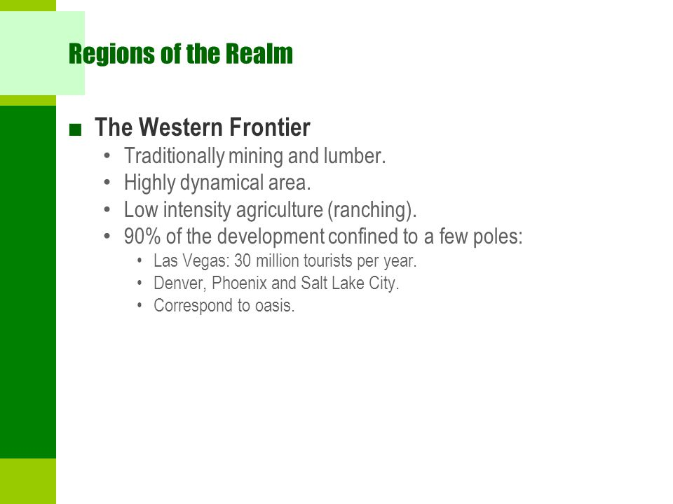 Regions of the Realm The Western Frontier