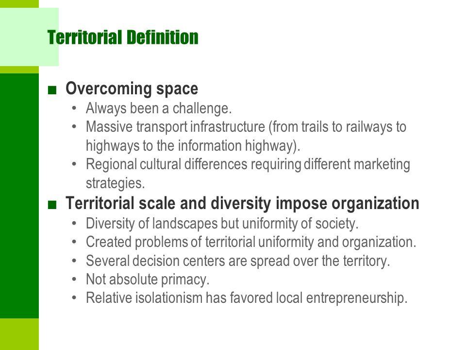 Territorial Definition