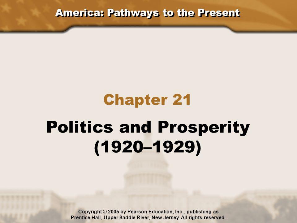 Politics and Prosperity (1920–1929)