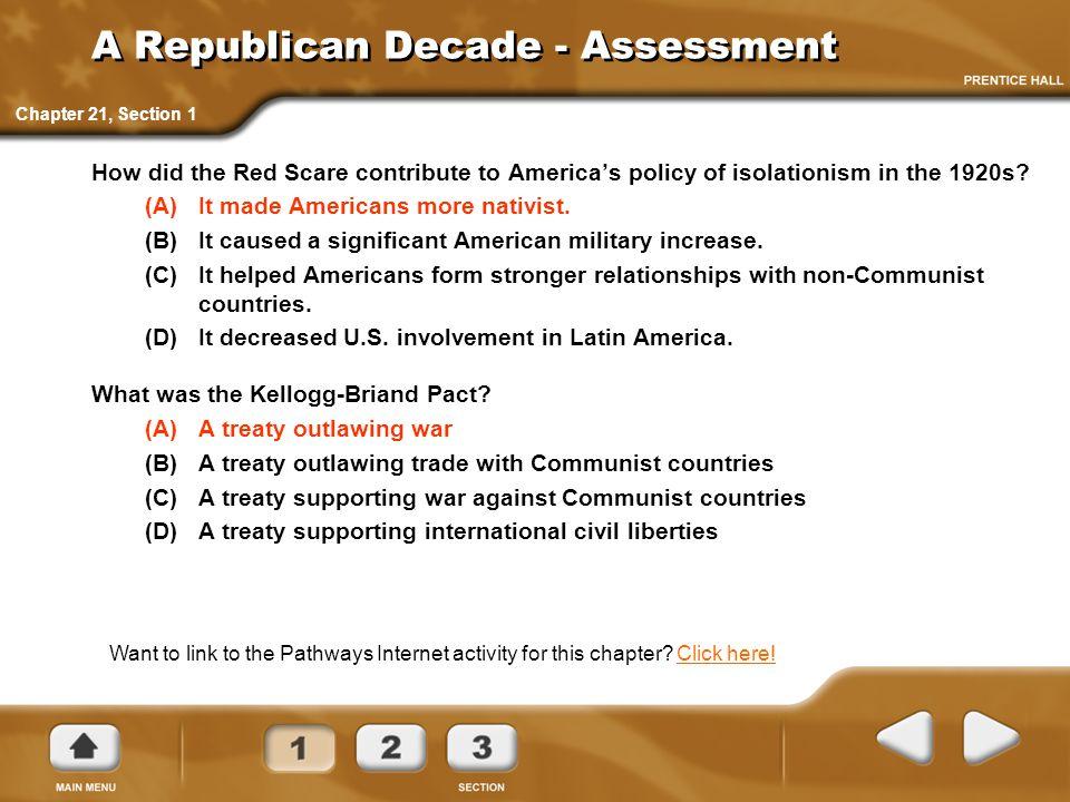 A Republican Decade - Assessment