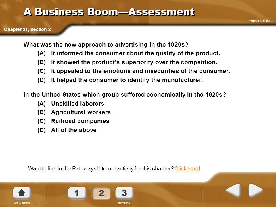 A Business Boom—Assessment