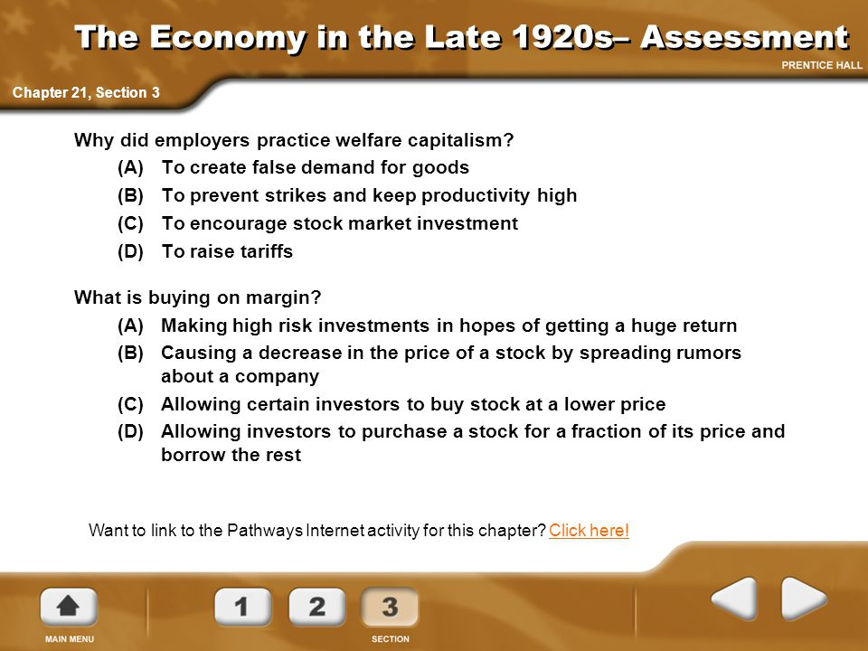 The Economy in the Late 1920s– Assessment