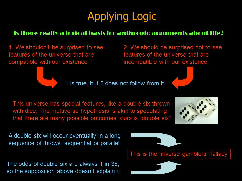 Applying Logic Is there really a logical basis for anthropic arguments about life