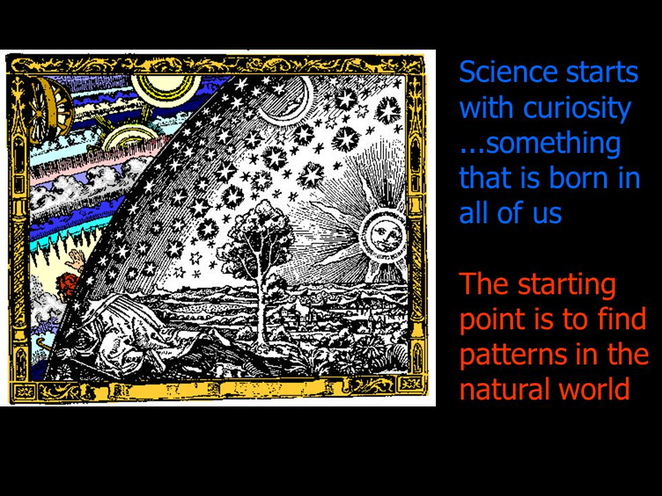 Science starts with curiosity ...something that is born in all of us
