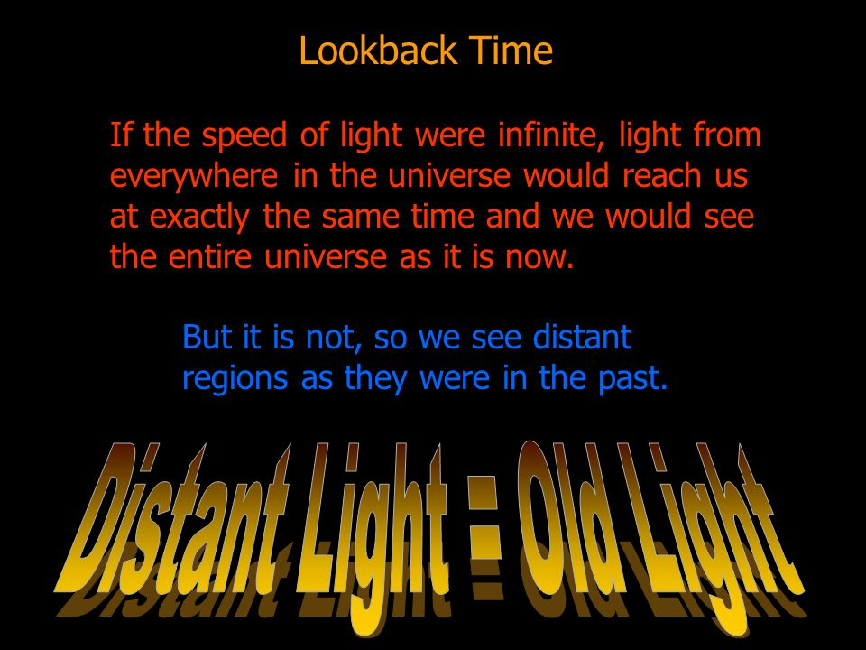 Distant Light = Old Light