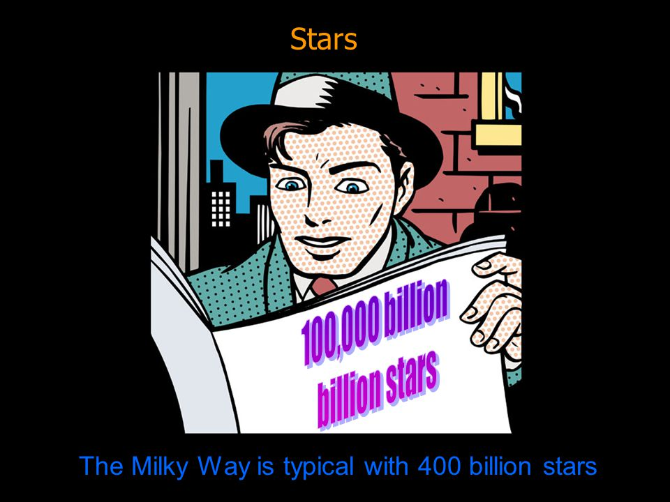 The Milky Way is typical with 400 billion stars